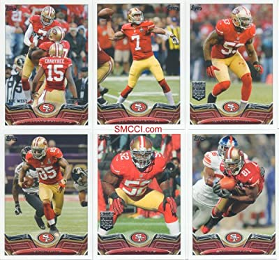San Francisco 49ers 2013 Topps NFL Football 18 Card Team Set Colin Kaepernick Frank Gore Anquan Boldin and More