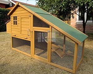 Chicken Coops Imperial - moyenne Poulailler Sandringham (204cm)- Jusqu'À 4 Poules - Système De Verrouillage Innovant