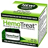 HemoTreat - Hemorrhoid Treatment Cream for Fast Safe Effective Hemorrhoidal Symptom Relief, Ointment 1.7 FL Jar