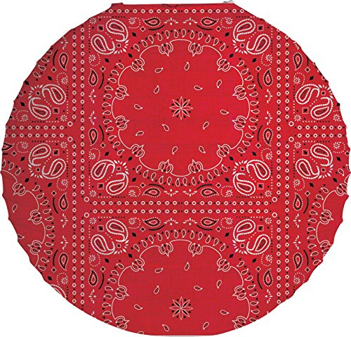"Creative Converting Bandanarama Round Lantern, 12"", Red"
