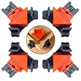 Angle Clamps, 4PCS 90 Degree Fixing Clip, Multi-function Adjustable Swing Right Angle Corner Clip Fixer for Wood-Working, Welding, Photo Framing, DIY Hand Tools
