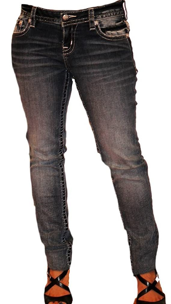 Miss Me Royal Intrigue Mid-Rise Skinny Jean