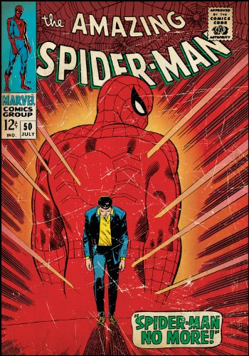 Roommates Rmk1659Slg Spiderman Walking Away Peel And Stick Comic Book Cover