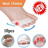 Pinky Toe Separator Tailors Bunion Pads *New Material*Gel Little Pinky Toe Protectors Sleeve for Tailor's Bunions, Curled Pinky Toes, Overlapping Toe,