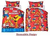 Latest Fireman Sam Jupiter Single Reversible Duvet Cover & Pillowcase Set