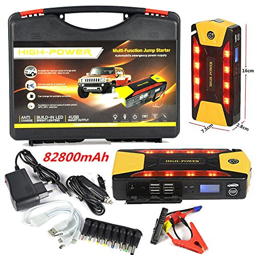 Mannot Racing - 82800mAh 4USB Car Jump Starter Emergency Charger Booster Power Bank Battery SOS TFP0006 (Flamethrower Kit Dual Exhaust compare prices)