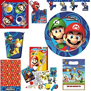super mario kindergeburtstag party deko super set spielzeug. Black Bedroom Furniture Sets. Home Design Ideas