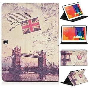 DONZO Wallet City Tablet Tasche für Samsung Galaxy Tab 4 10.1 T530 T535 Mehrfarbig