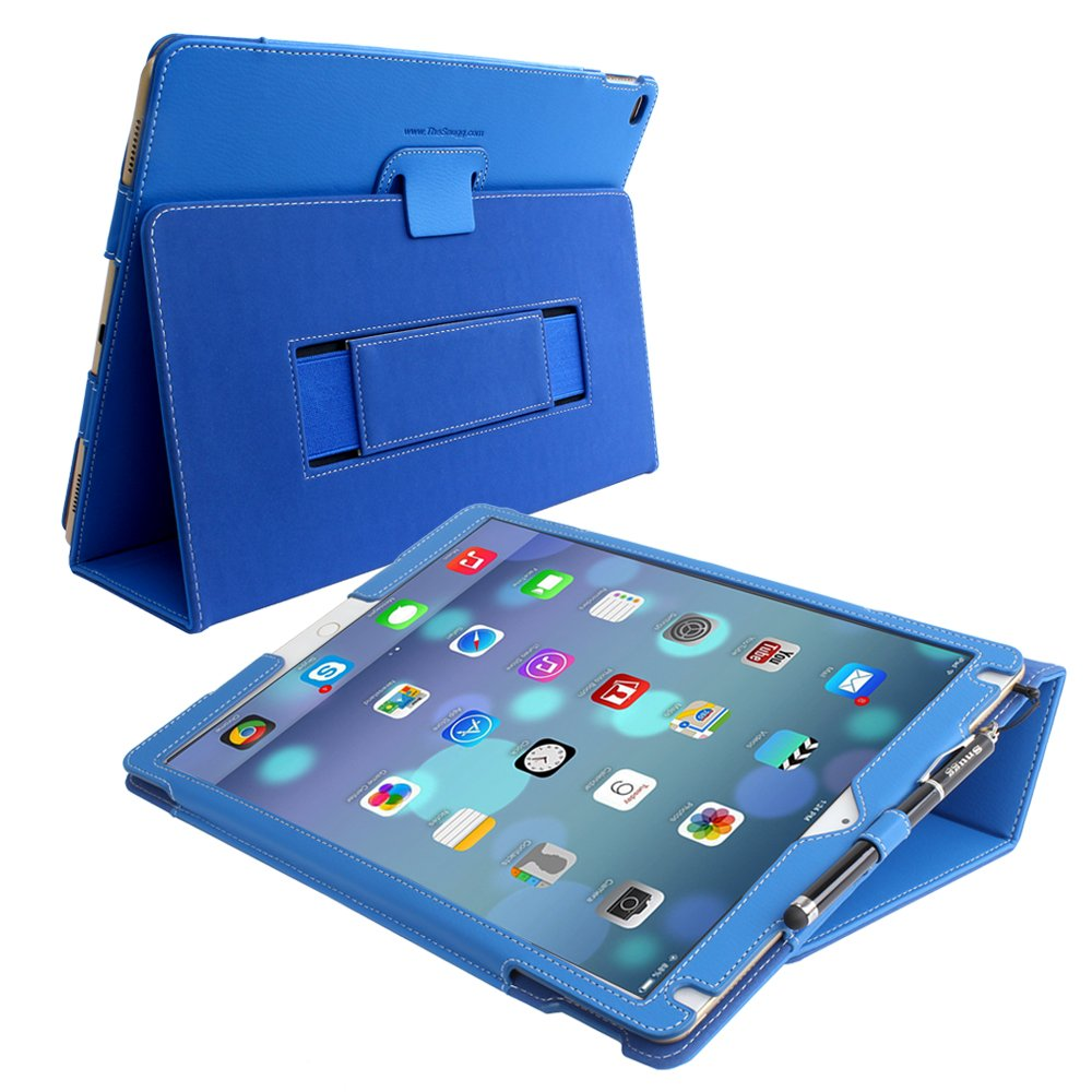 Snugg iPad Pro Case - Smart Cover with Flip Stand & Lifetime Guarantee (Electric Blue) for Apple iPad Pro