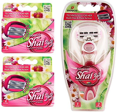Dorco Shai SoftTouch 6- Six Blade Razor Shaving System- Value Pack (10 Cartridges + 1 Handle) (Reusable Sharps Container compare prices)