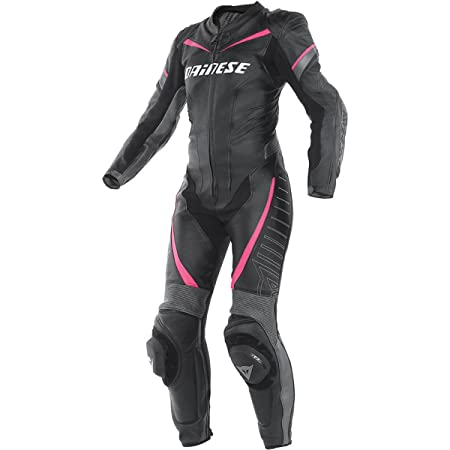 Dainese 2513423_S14_44 TRacing P Lady, Noir/Anthracite/Fuchsia, Taille : 44