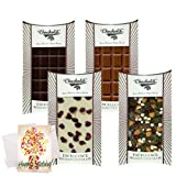 Chocholik Luxury Chocolates - Aah!! Collection Of Yummy Chocolates Bars With Birthday Card