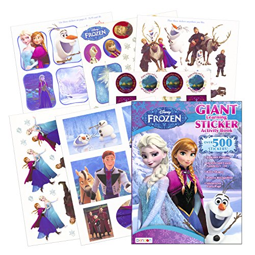 Disney-Frozen-Sticker-Activity-Learning-Book-Over-500-Stickers