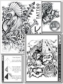 Joe Zuniga Aztec Tattoo Designs Sketchbook (Volume 1) Spiral-bound