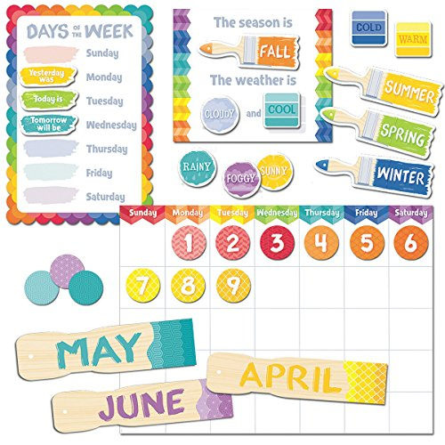 Creative Teaching Press Painted Palette Calendar Set Bulletin Board (4708) (Drill Wall Chart compare prices)