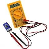 MChoice DT830B LCD Digital multimeter voltmeter ammeter AC DC Voltage OHM Circuit Tester (Yellow)