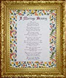 A Marriage Blessing - Inspirational Christian Prayer for Bride and Groom (Framed)