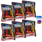 2 Item Bundle: 6-packs Disney Finger Paints and Window Crayons AND 6-pack Silicone Bracelets - Pixar Cars, Winnie the Pooh, Spiderman, Tinkerbell, and Disney Princess Art Supplies - Great Disney Party Favors for Kids (Pixar Cars Finger Paints)