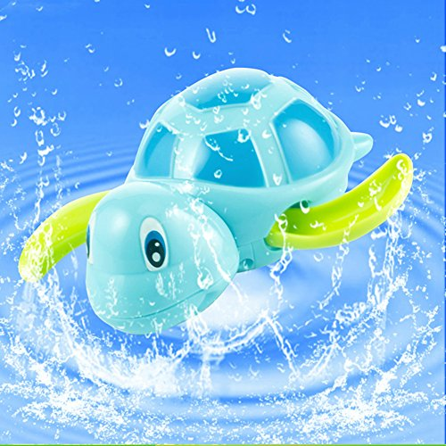 Fajiabao Bathtime BPA Free Swimming Turtle Bath Buddies Toys Animals Bathtub Bath Fun Toy for Kids(one Piece) - 1