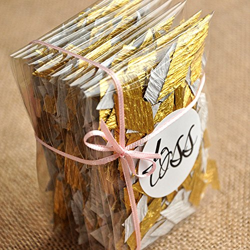Gold Wedding Decor Confetti (10CT). Toss Packets. Favor Bags