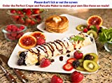Perfect Crepe Maker Machine, Bonus Perfect Pancake Maker Pan & 3 Tools, Electric Griddle Nonstick