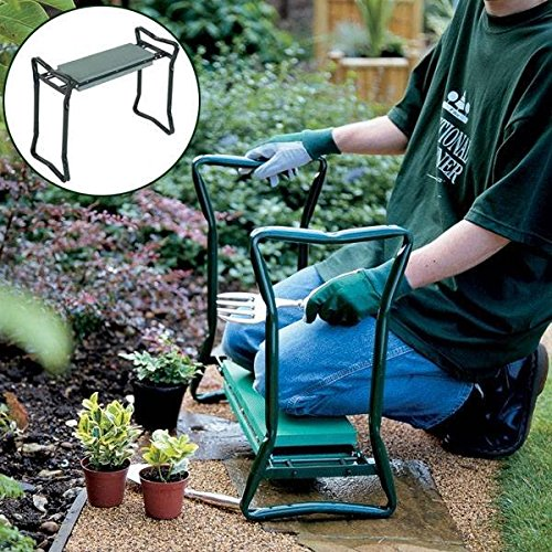 Saver Folding Stainless Steel Garden Kneeler Stool EVA Cushion Seat Gardening Portable Tool