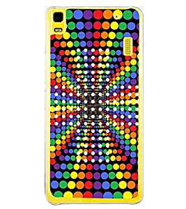 Colourful Dots Pattern 2D Hard Polycarbonate Designer Back Case Cover for Lenovo A7000 :: Lenovo A7000 Plus :: Lenovo K3 Note