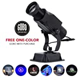 Instagobo 15W LED Custom Image GOBO Logo Projector Light with Static Function Manual Zoom&Focus Customized Gobos for Indoor Use Company Hotel Restaurant Advertising Signs (Black) (Color: Black, Tamaño: 15W(Indoor))