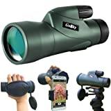 Gosky 12x55 High Definition Monocular Telescope and Quick Smartphone Holder - 2018 New Waterproof Monocular -BAK4 Prism for Wildlife Bird Watching Hunting Camping Travelling Wildlife Secenery (Color: Skyhawk 12x55 HD Monocular)