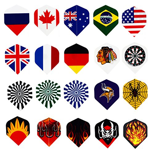 Find Cheap Centaur 20 Sets (60 Pcs) Nylon Dart Flights Wholesale National Flag Cool Styles