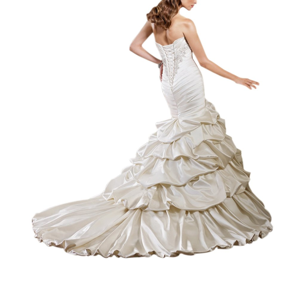 Silky Taffeta Over Satin Wedding Dress