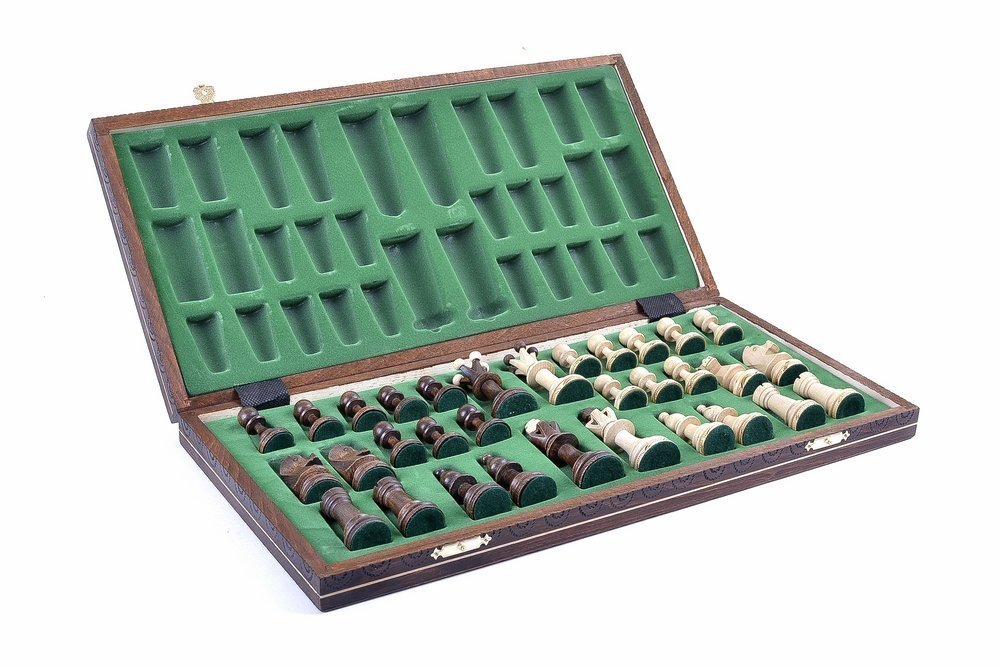 Wegiel Chess Set - Consul Chess Pieces and Board - European Wooden Handmade Game 2