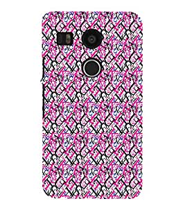 iFasho Modern Art Design Pattern with Lot Of alphabet Back Case Cover for Huawei Google Nexus 6P