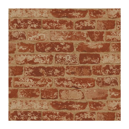 Wall In A Box Bz9206 Stuccoed Wallpaper, Rust Red, Barn Red, Ivory, Beige Wine Red front-304318