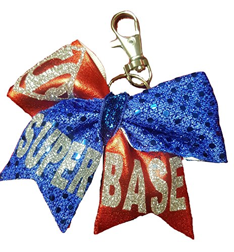 Cheer bows Key Chain, Backpack Bow Super Base Superman (Cheer Pack compare prices)