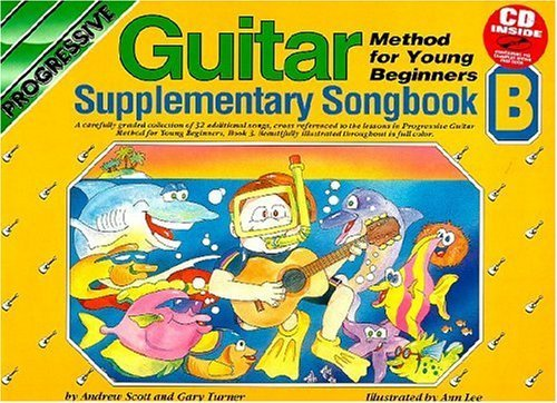 young-beginner-guitar-method-supplementary-songbook-b-bk-cd-progressive-young-beginners-by-scott-200