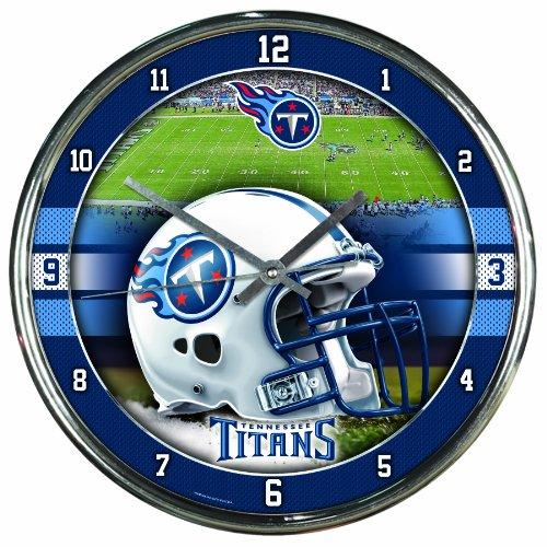 NFL Tennessee Titans Chrome Clock