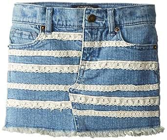 Lucky Brand Little Girls' Lace Taping Skirt, Light Indigo, 2T