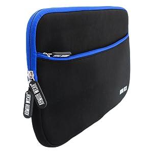 10 10.1 inch Tablet Sleeve Case, Armor Wear 10.1 Shockproof Sleeve Case with Accessory Pocket for Samsung Galaxy 10-10.5, iPad 2/3/4,Air,Kindle HD 10.1(2015),Surface 2/3,Lenovo Yoga Tab (Color: Black/Blue, Tamaño: 9.7-10.1 inch)