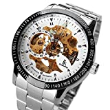 Multi Color Luxury Ik Colouring 98226 Stainless Steel Automatic Skeleton Mechanical Wristwatch Hollow Men's Watches Pbao Baby Carrier (Style7)