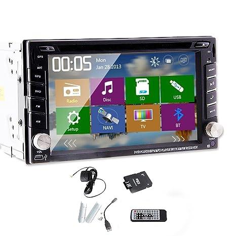 Multi-MšŠdia Win 8 Double DIN Audio En ARM Dash 11 GPS FM / AM CPU reproductor de la radio DVD del coche mš¢s rš¢pido 800MHZ coche 6.2 pulgadas d'šŠcran tš¢ctil con la cubierta de la gratuito