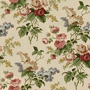 54'' Wide Waverly Emma's Garden Jewel Fabric By The Yard