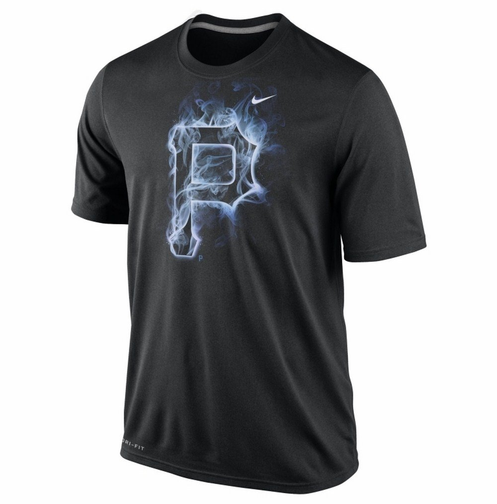 Nike Men's Pittsburgh Pirates Dri-FIT Legend Vapor Logo Black T-Shirt' nike топ dri fit ctn aop nike tank
