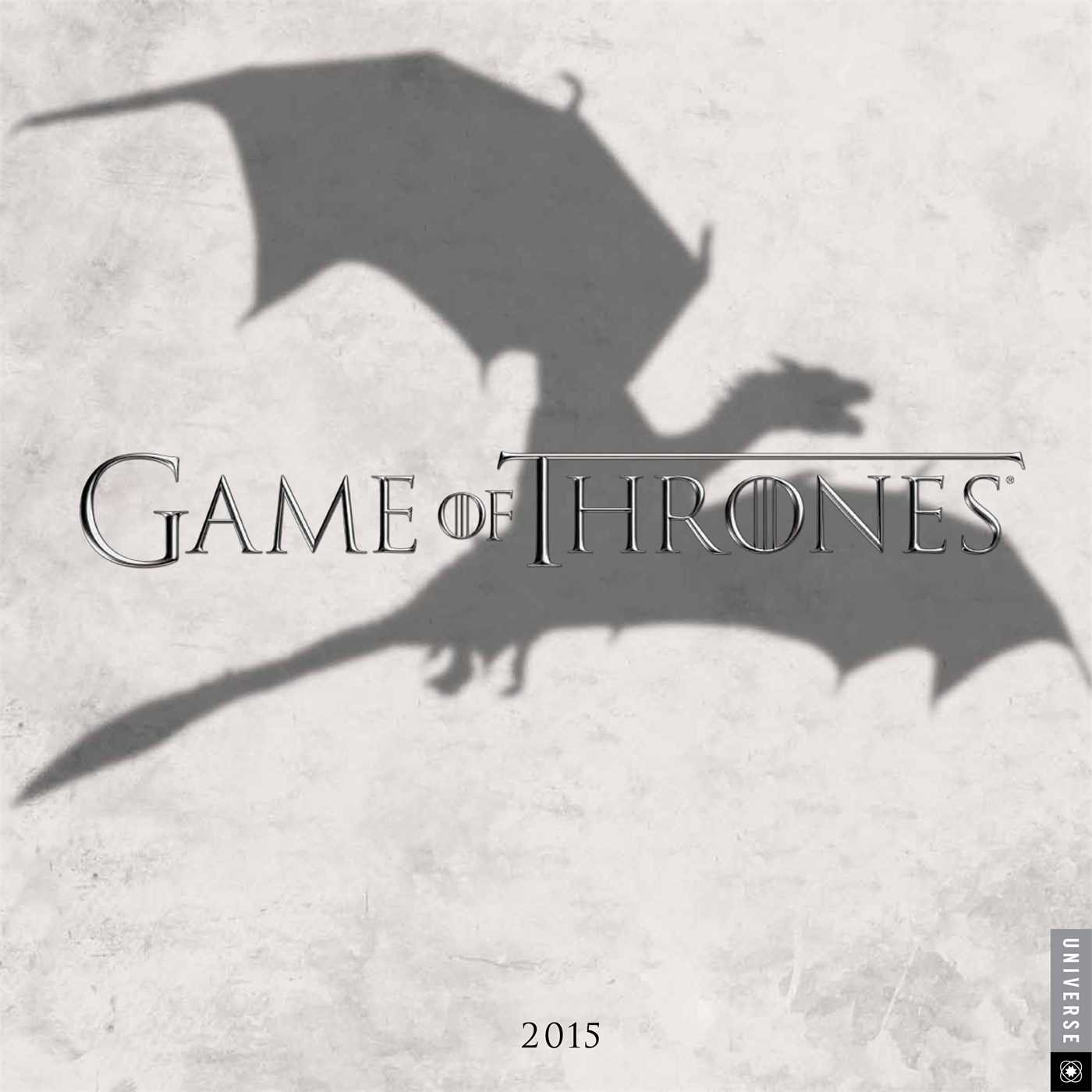 Game of Thrones 2015 Wall Calendar