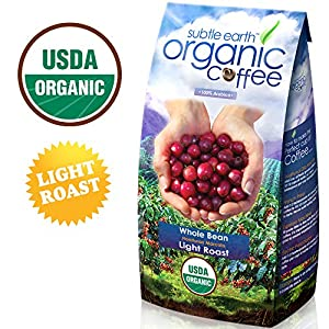2LB Cafe Don Pablo Subtle Earth Organic Gourmet Coffee - Light Roast - Whole Bean, 2 Pound