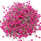 KING DO WAY Pack Of 800 PCS Round Pearl Head Sewing Pin Dressmaking Weddings Corsage Pin Rose red