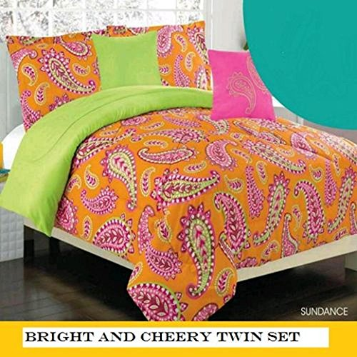 Pink Paisley Bedding 5243 front