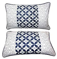 Miyanbazaz Designer Luxury 100% Cotton Small Pillow Cover (Size-14X20)