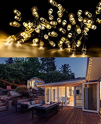 Sorbus® Christmas Lights Solar Powered Waterproof 100 LED String Lights 55 ft long For Home, Garden, Wedding, and Christmas Parties