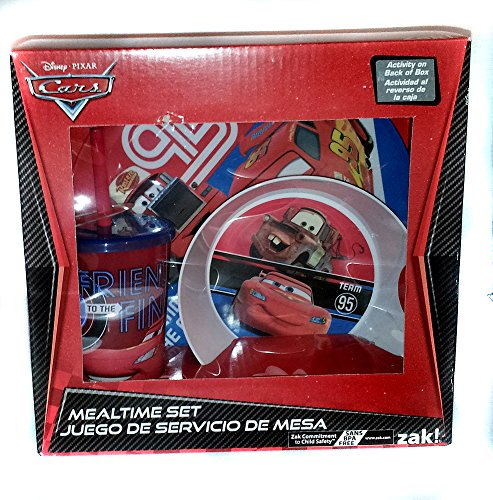 Zak! Disney Pixar Cars 3 Piece Mealtime Set - 1